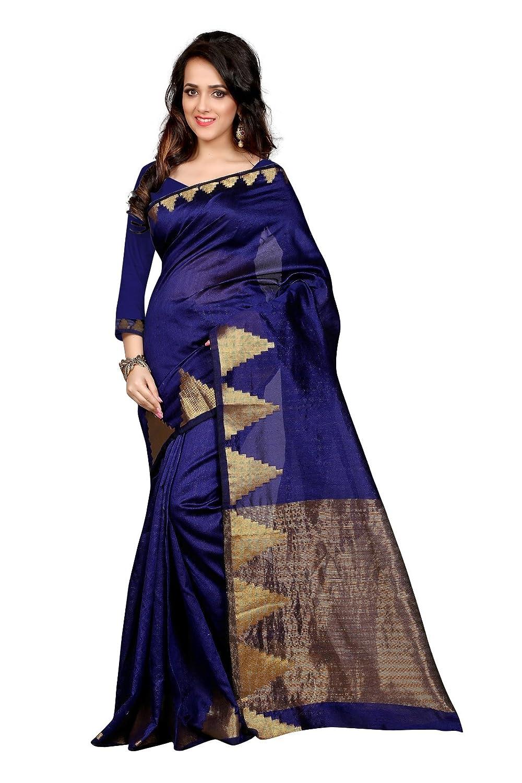 Shopaholic Women's Kanjivaram Silk Designer Saree