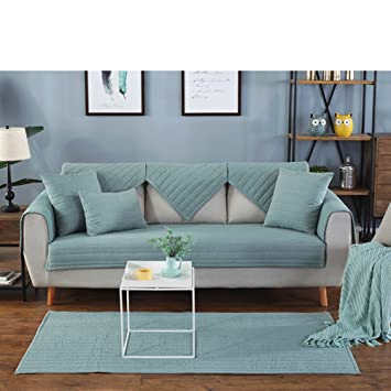 Amazon.com: Color sólido felpa sofá, tela de color sólido ...