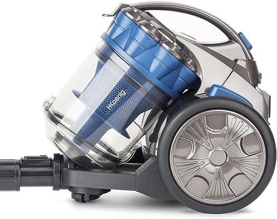 H. Koenig stc68 aspirador Multi Ciclónico sin bolsa Compact + especial pelo de animales-triple a-ligero-fácil de utilizar-potente, azul: Amazon.es: Hogar