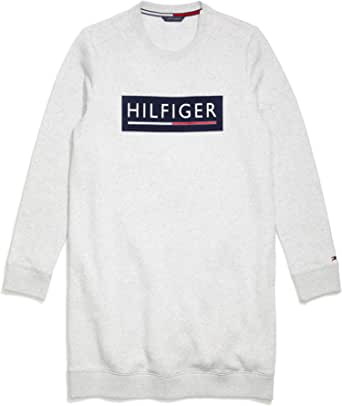 Tommy Hilfiger Women's Adaptive Sweatshirt Dress with Velcro Brand Closure at Shoulders