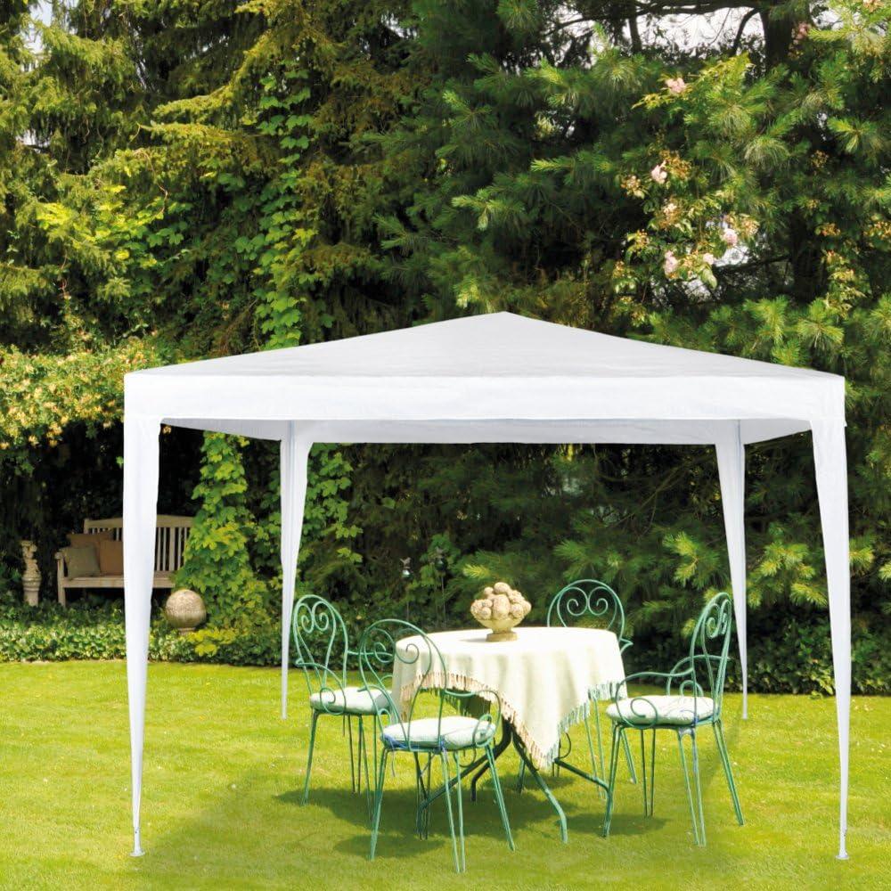 Aktive - Cenador de 300 x 300 x 250 cm, plástico, color blanco (ColorBaby 53857)