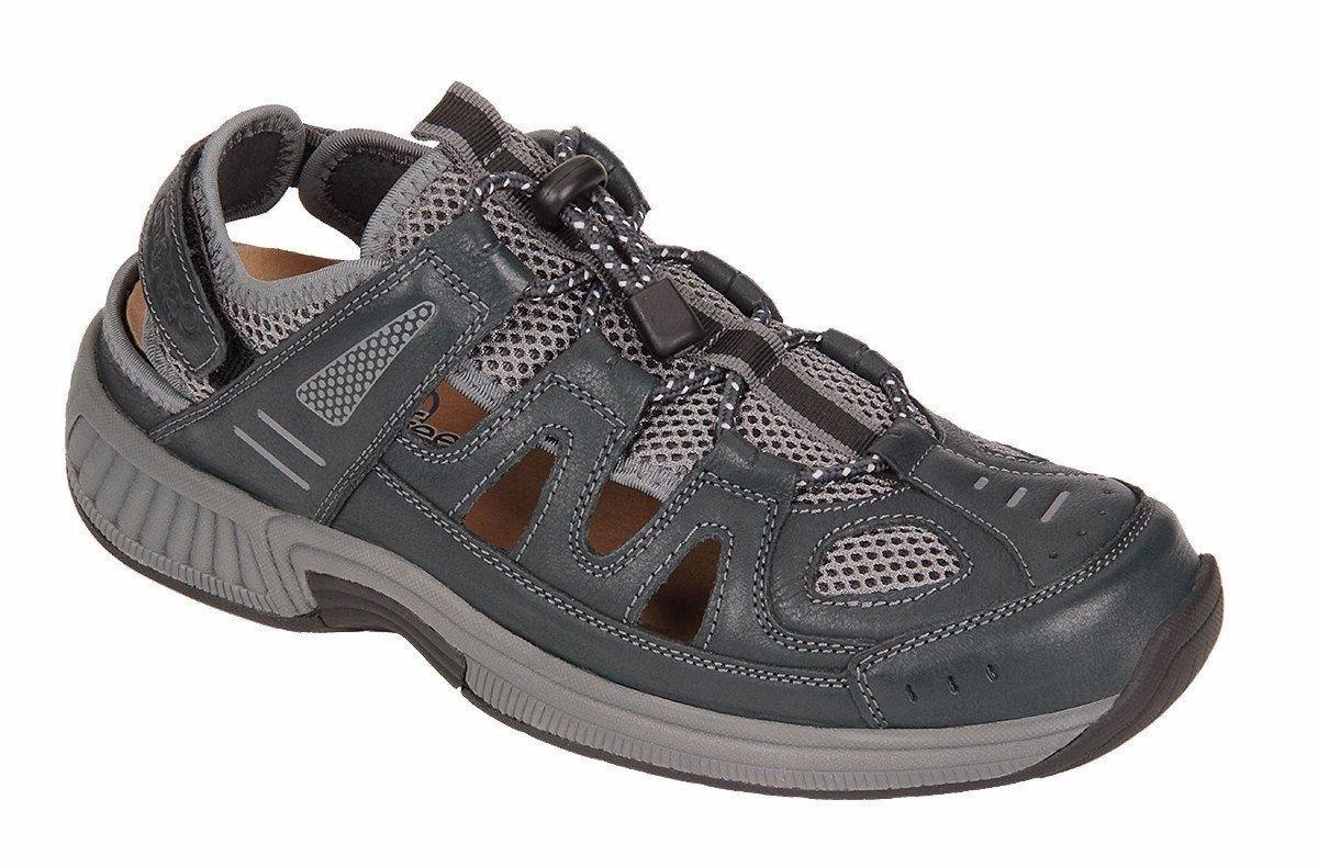 Orthofeet Alpine Comfort Diabetic Mens Orthopedic Sandals Fisherman Brown Leather 9 W US