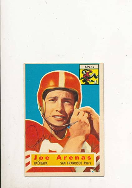 0f9534024 1956 Topps card vintage signed 38 Joe Arenas 49ers at Amazon s ...