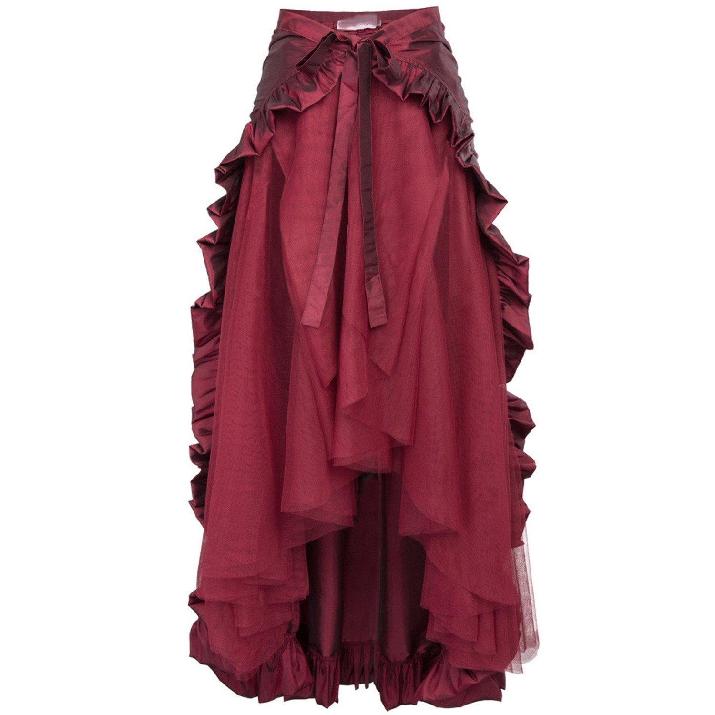 Mujer Faldas Falda Burlesque de Volantes para Mujer Faldas largas ...