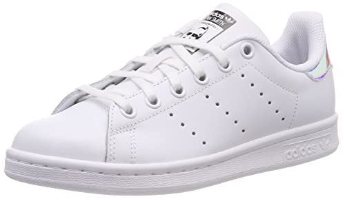 cheap for discount 777f3 9bc41 Adidas Stan Smith J Sneaker Unisex - Bambini, Multicolore (White  Ftwwht Metsil