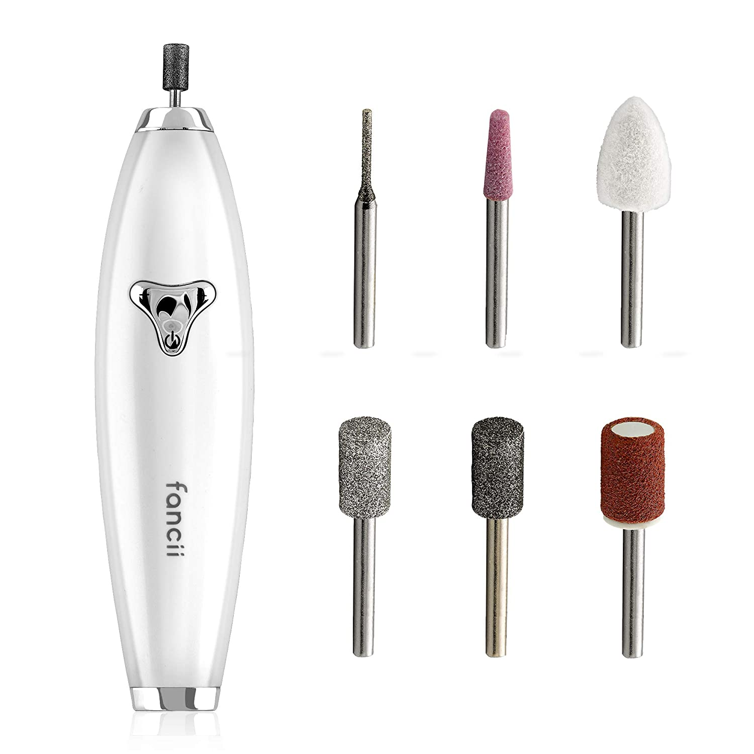 Fancii Professional Manicure & Pedicure Nail Drill System with Magnetic Case, Rechargeable - Cordless At-Home Nail File Kit with 8 Speed Settings, Buffer, Grinder, Shiner and Shaper (Lola)