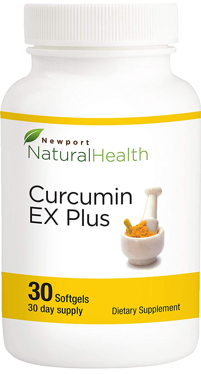 Newport Natural Health Curcumin EX Plus, 40x More bioavailable Curcumin Pills 500mg 30 Softgels 30-Day Supply