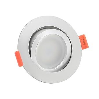 90 Ra//Cri 6W 1-10x Dimmbare Aluminium LED-Einbaustrahler matt GU10 230V