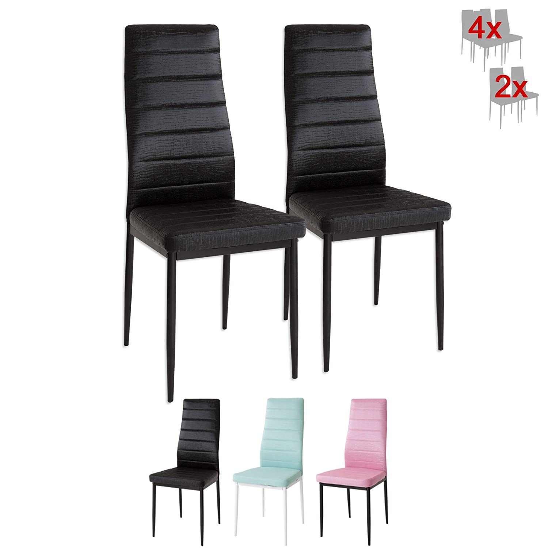Albatros 3080 CAT 2 x Designer-Stühle CAT schwarz Polsterstühle ...