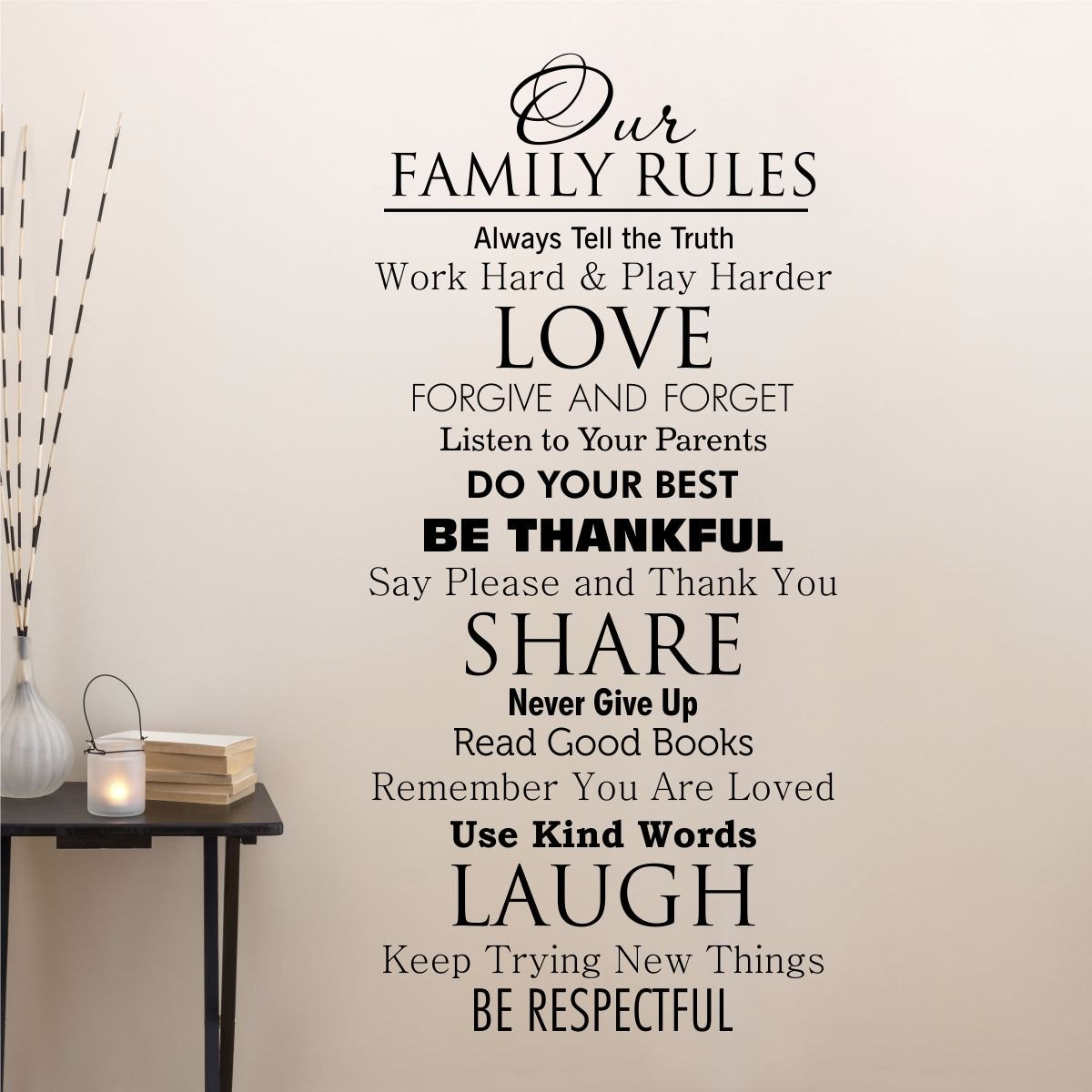 amazon com ditooms family quotes wall decal our family house amazon com ditooms family quotes wall decal our family house rules home love do your best wall art vinyl decal for room decor home kitchen