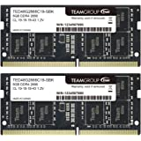 TEAMGROUP Elite DDR4 16GB Kit (2 x 8GB) 2666MHz PC4-21300 CL19 Unbuffered Non-ECC 1.2V SODIMM 260-Pin Laptop Notebook PC…