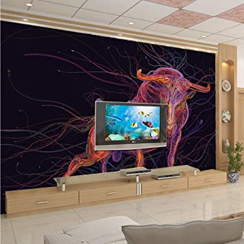 YUANLINGWEI Fondo De Pantalla En 3D Personalizado Mural Creativo ...