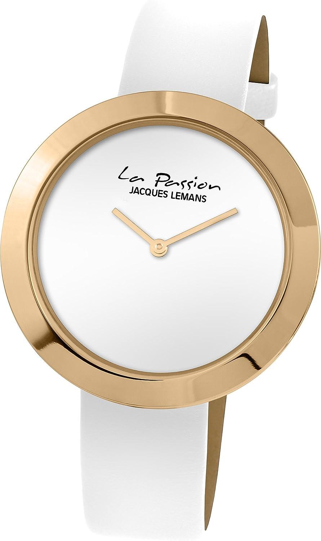 Jacques Lemans Reloj Analógico para Mujer de Cuarzo con Correa en Cuero LP-113D