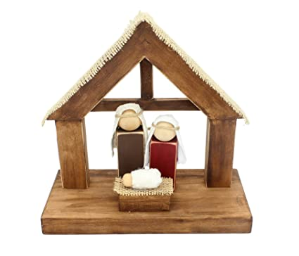 Amazoncom Rustic And Refined Design Wood Diy Nativity Kit Home