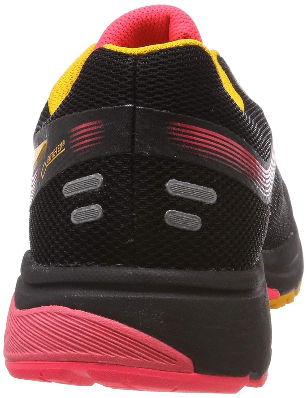 ASICS Damen Gt-1000 7 G-tx Laufschuhe, schwarz, 43.5 EU Schwarz (Black/Amber 001)