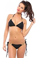 Beach Bunny Black Diamond Bikini Bottom | Small