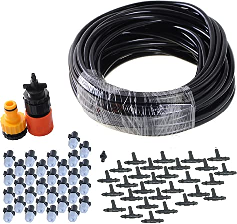 theBlueStone DIY 50FT 30 Nozzles Misting System Kit for Outdoor Swimming  Pool Cooling Garden Greenhouse Irrigation Reptile Mosquito Prevent - 50FT  ...