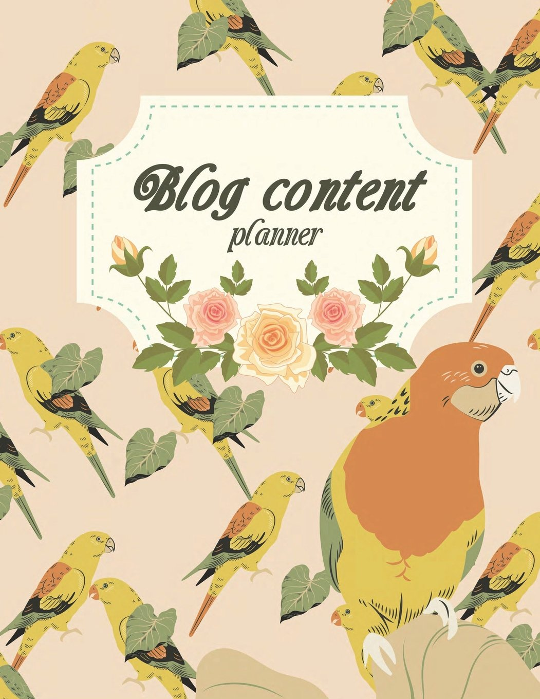 """Blog content planner: Blog statistics, Daily Blogger posts and Manager Schedule 120 Pages Large Size 8.5"""" x 11"""" PDF"""