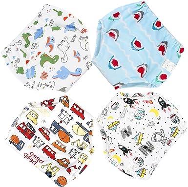 Style B, Age3+Years La Vogue 4Packs Toddler Kids Cartoon Potty Training Pants Babys Cotton Washable Training Nappy Underwear