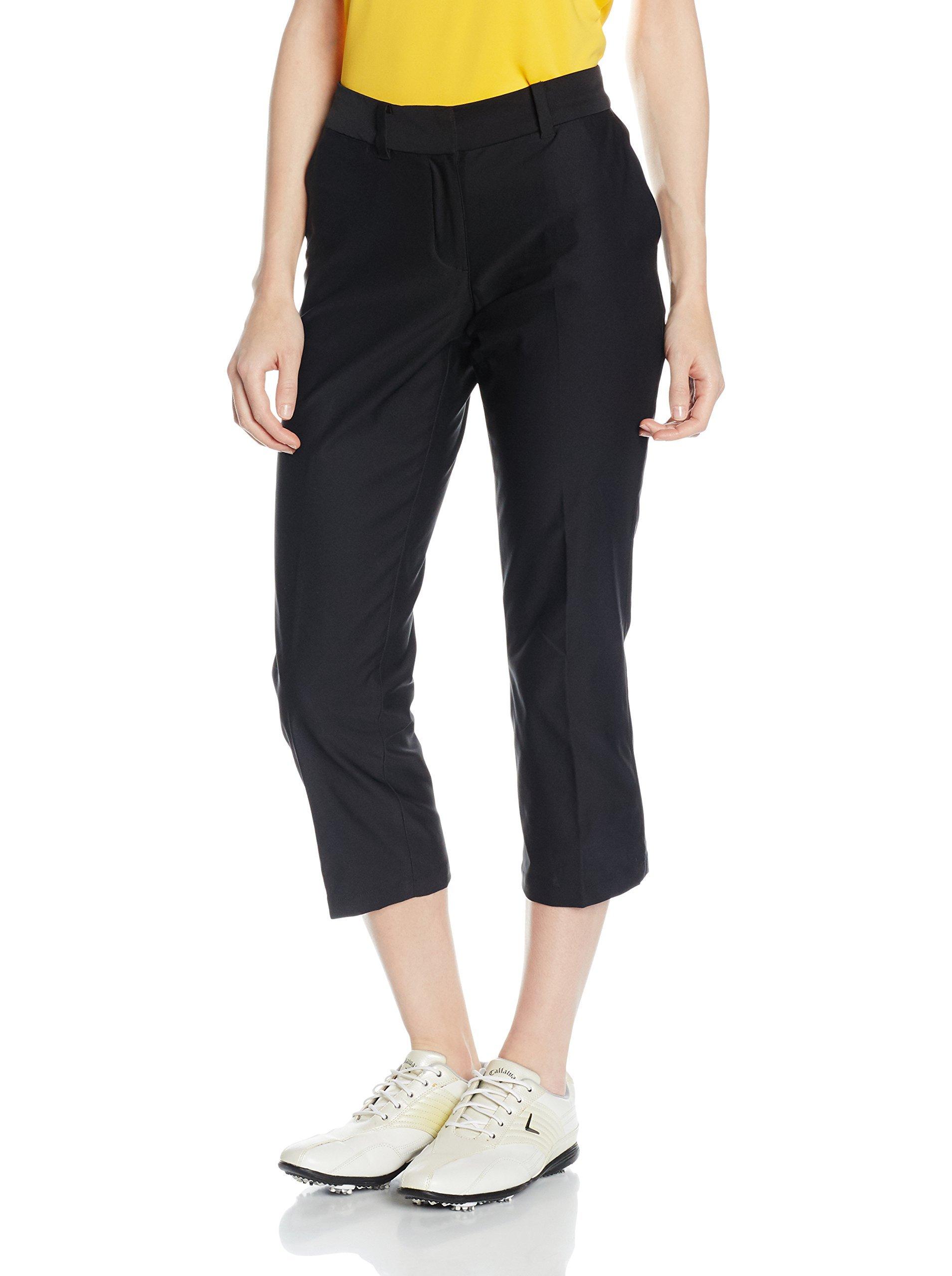 Nike Golf Women's Tournament Crop Black/Black Pants 4