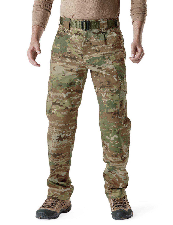CQR Men's Tactical Pants Lightweight EDC Assault Cargo TLP105 Tesla Gears