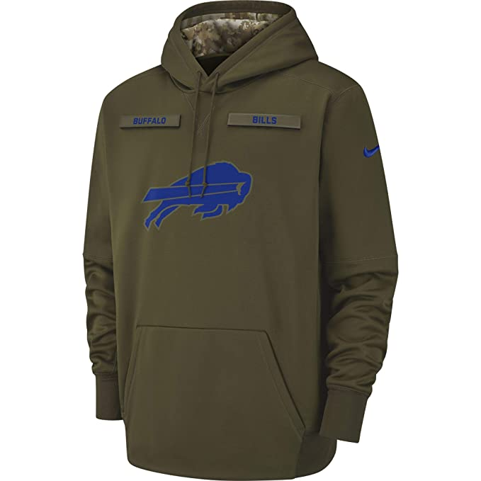 new product 9512b 57df8 Nike Men's Buffalo Bills Therma Fit Pullover STS Hoodie at ...