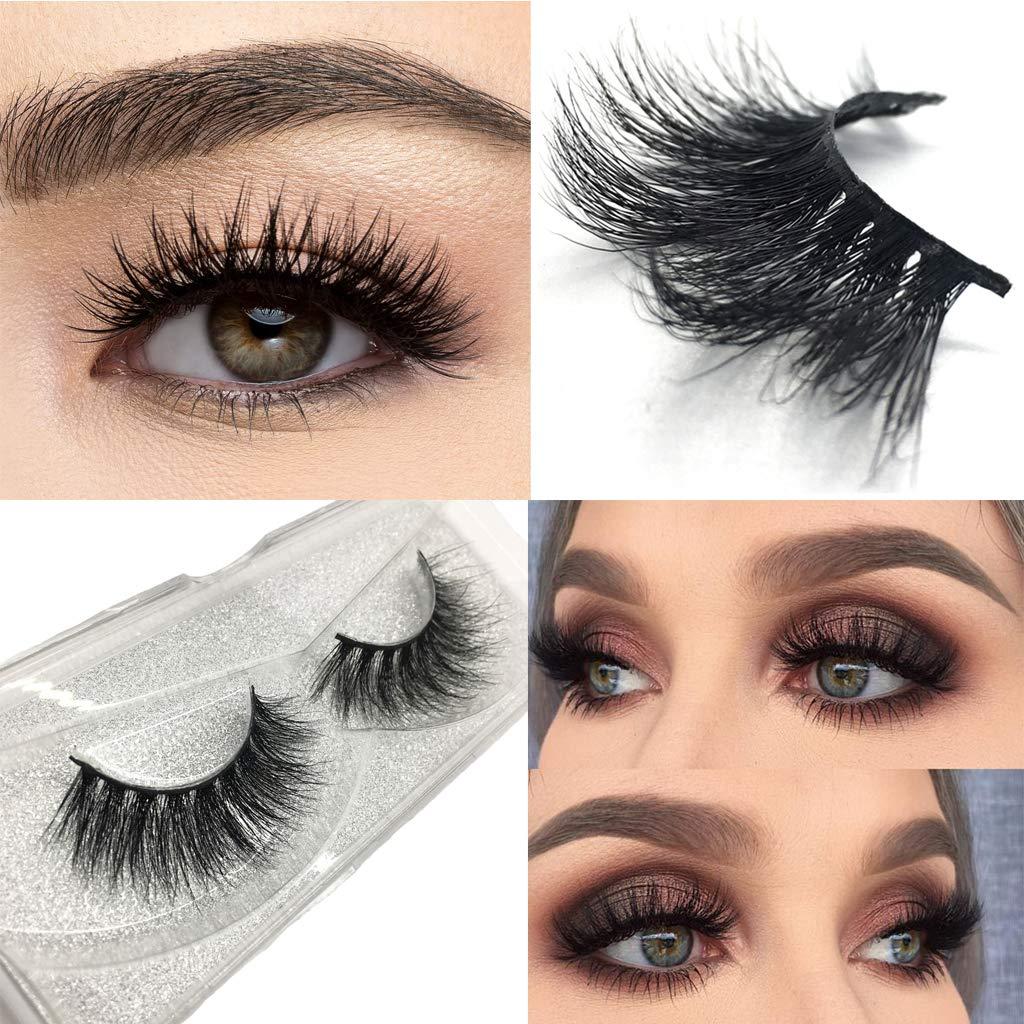 03534b1dccd Amazon.com : Googoo Mink 3D Lashes Dramatic Makeup Strip Lashes 100%  Siberian Fur Fake Eyelashes Hand-made False Eyelash 1 Pairs : Beauty