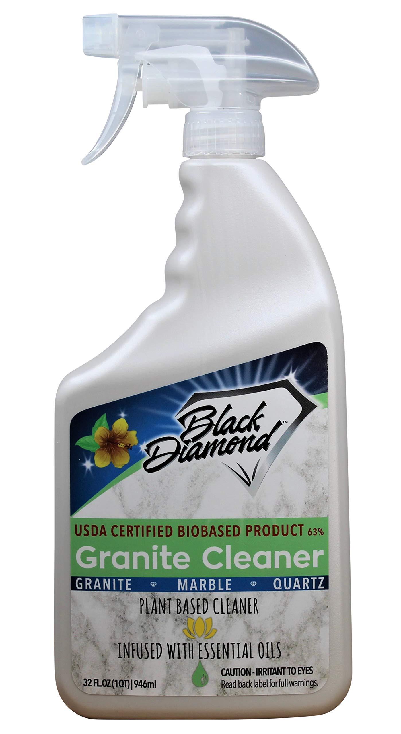 Black Diamond Stoneworks Granite Counter Cleaner: USDA Certified BIOBASED- Safe for Granite, Quartz, Marble, Travertine, Countertops