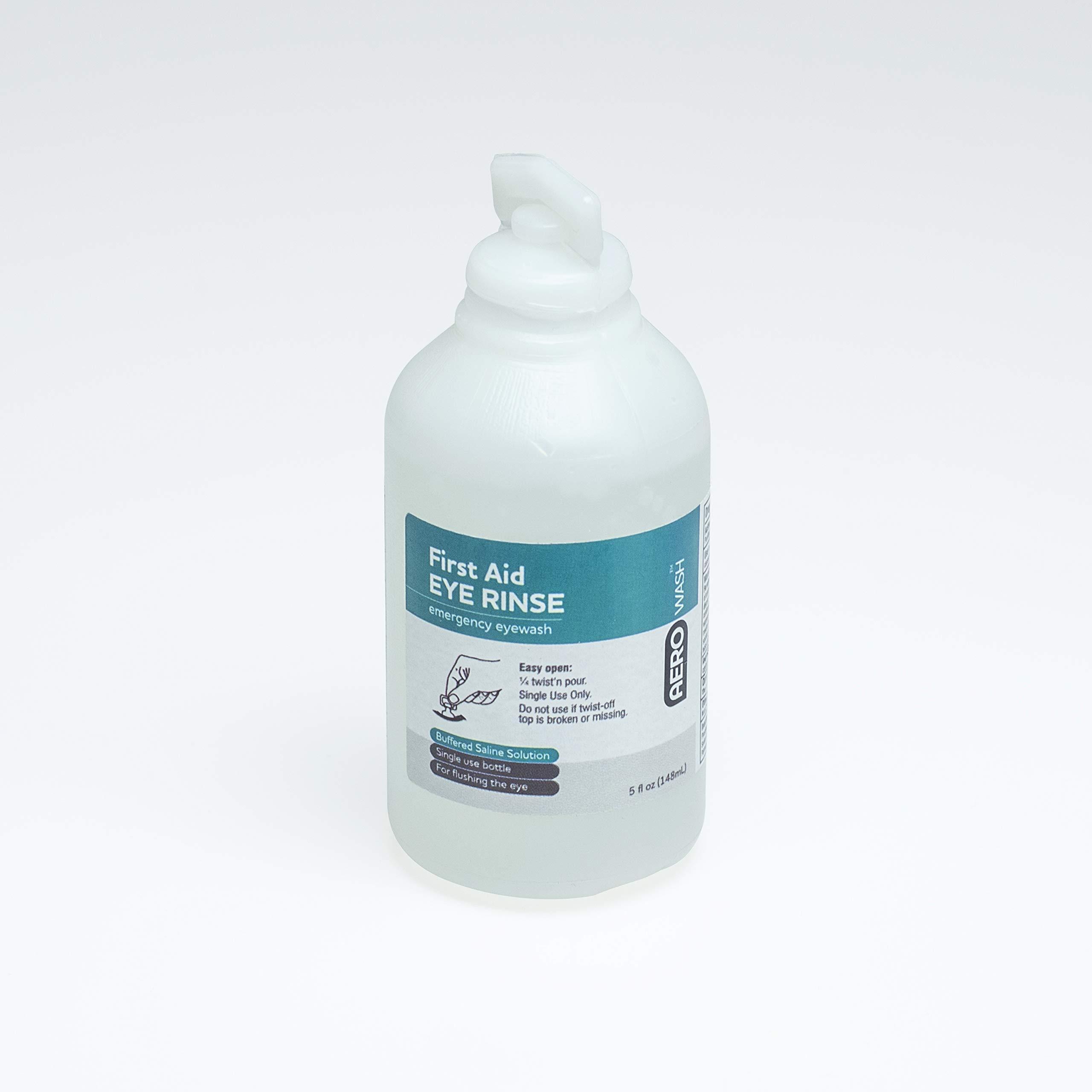 Aero Eye Wash Safety Solution; Buffered pH Neutralizing, 5oz (Pack of 3)
