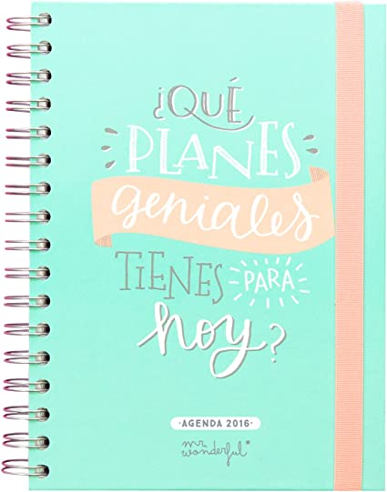 Mr. Wonderful WOA02955 - Agenda anual 2016, color azul: Amazon.es ...