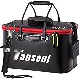 Tansoul バッカン 釣り バケツ 折りたたみ 40L フィッシュグリップ付き 魚掴み器 釣り具 アウトドアに最適