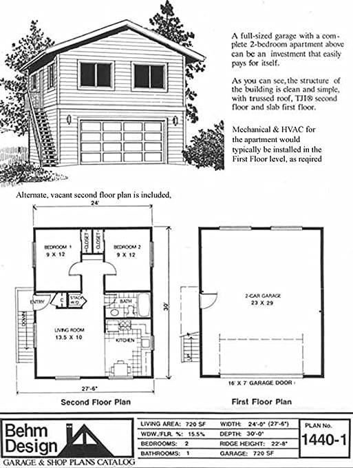 Garage Plans: Two Car, Two Story Garage With Apartment ...