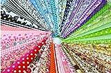 60 Pcs Assorted Craft Fabric Bundle Squares
