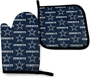 Oven Gloves Dallas Cowboys Art Kitchen Supplies, kitchenware, Heat-Resistant Cooking and Grilling Gloves, Thermal pad