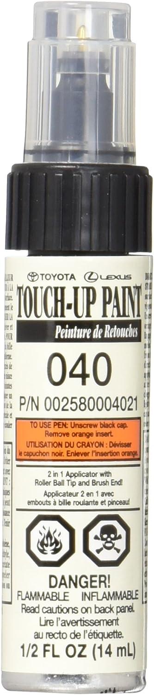 Genuine Toyota 00258-00040-21 White Touch-Up Paint Pen (1/2 fl oz, 14 ml)