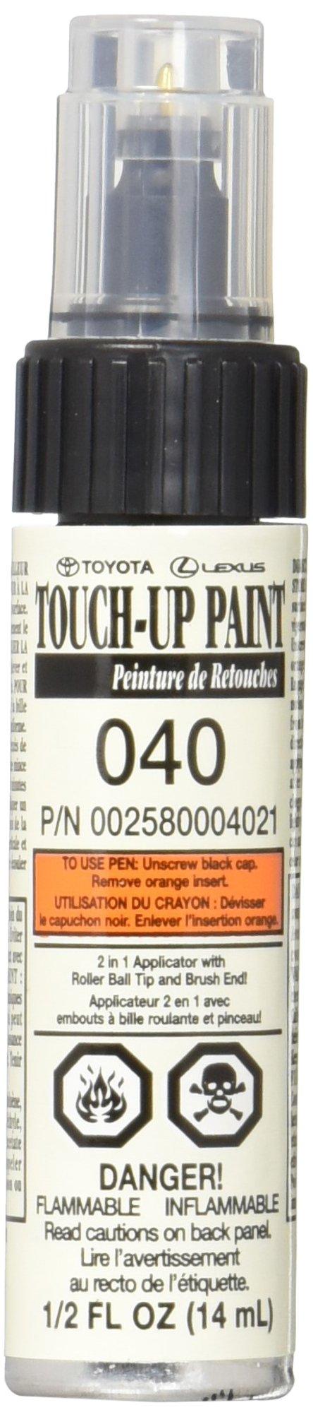 Toyota Genuine 00258-00040-21 White Touch-Up Paint Pen (1/2 fl oz, 14 ml)