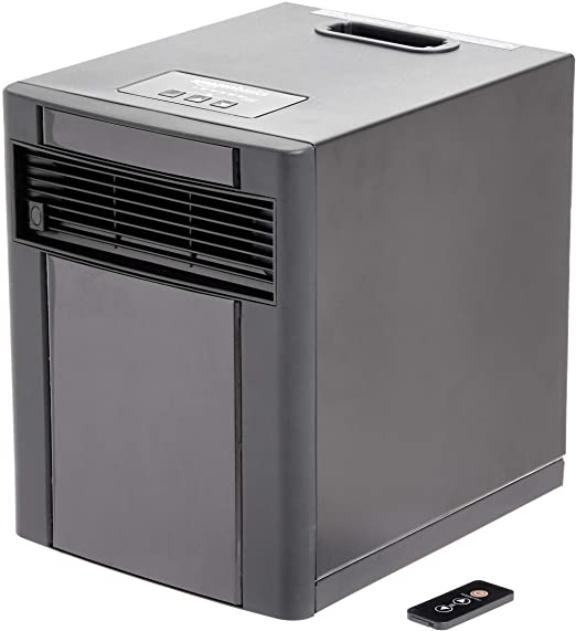 Amazon Com Amazonbasics Portable Eco Smart Space Heater Black