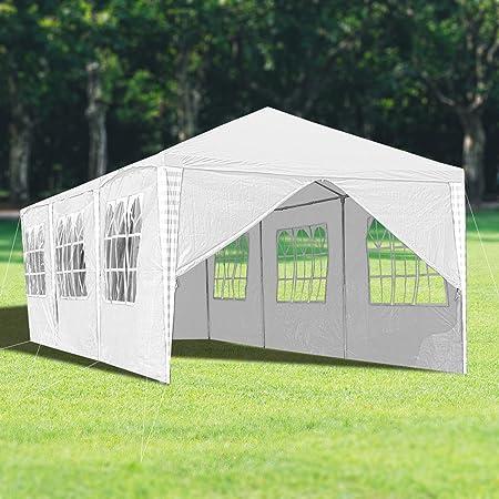 : wolketon Pavillon mit 8 Seitenteilen Weiß