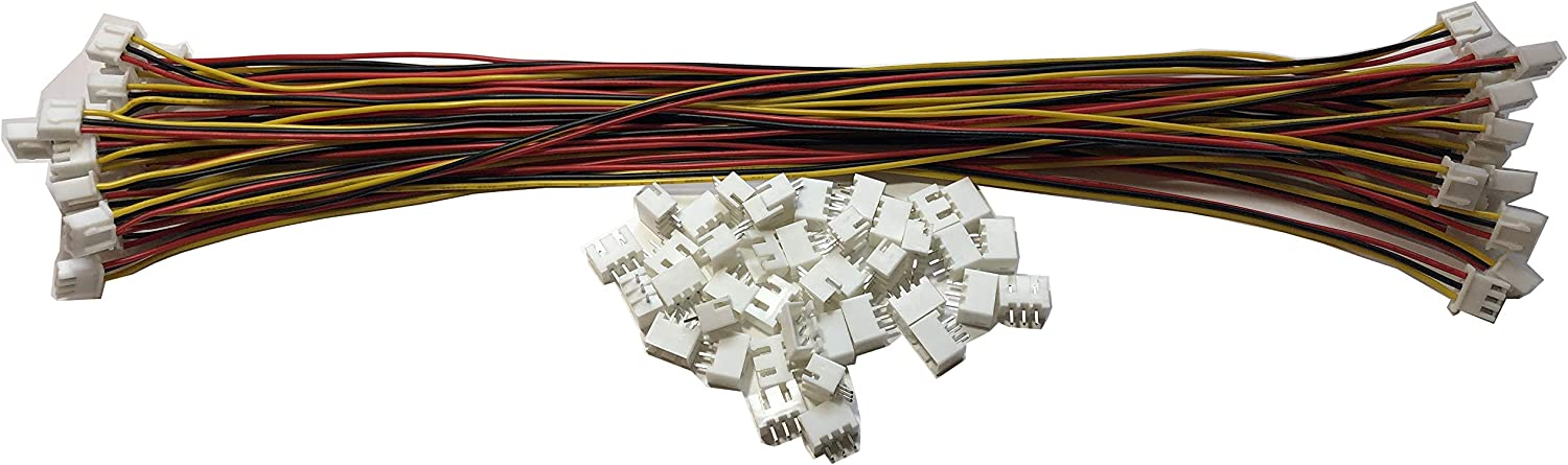 LATTECH 12 PCS 5 PIN JST XH Female Connector on One Side with Electric Wire 1007 26 AWG(Total Length:200MM) /& JST XH 5 PIN Male Connector 12 PCS