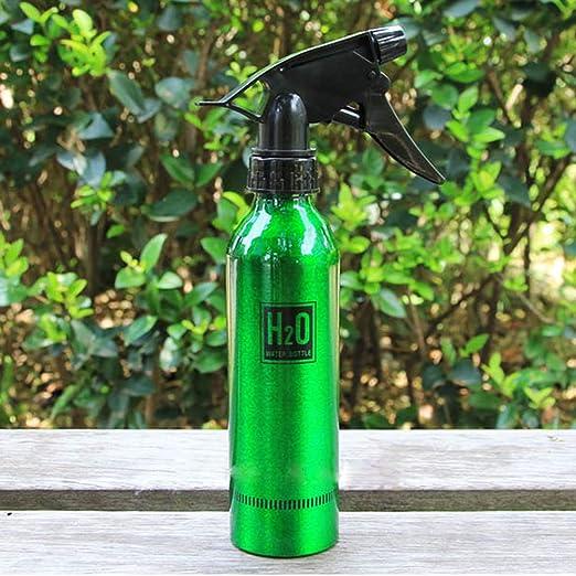Jardín aspersor de riego Aluminio Mini Spray Botella Clara envase rellenable de Agua Botella de Suministros Hervidor rociador de riego de jardinería, Capacidad: 300 ml, Color al Azar Entrega jardín: Amazon.es: Jardín
