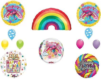 Amazon.com: Trolls Movie Orbz/arco iris Globos de fiesta ...