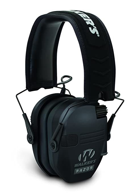 WALKERS GAME EAR GWP-RSEM Razor Series(TM) Slim Shooter Electronic Folding Muff (Black) Audio Headphones at amazon
