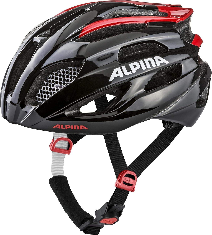 Alpina Fedaia Casque de vélo Mixte noir/rouge