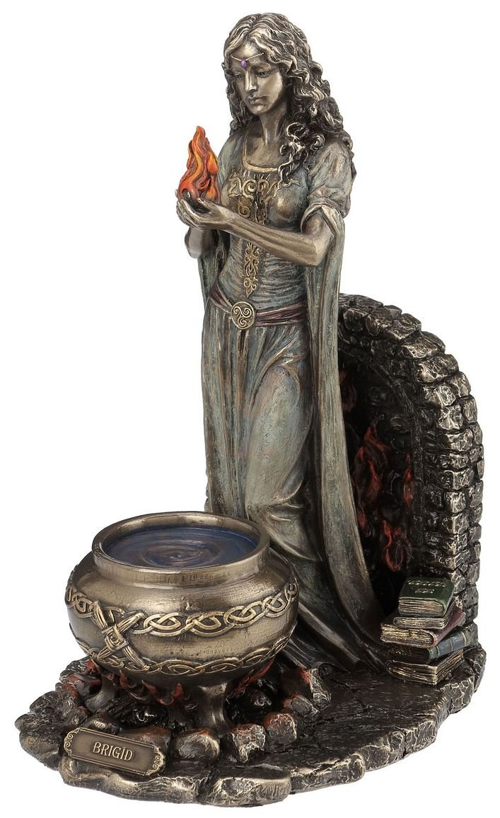 Celtic Goddess Brigid Statue Sculpture wicca Celtic Veronese