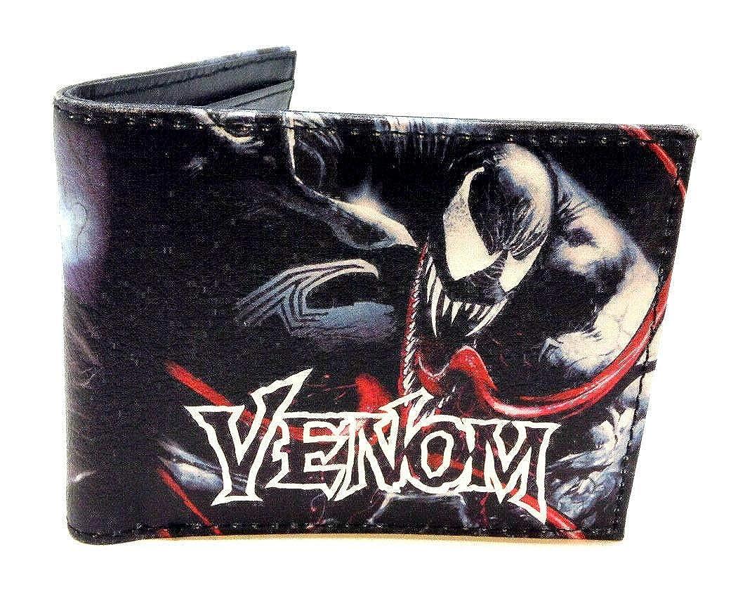 Amazon.com: Marvel Comics Venom - Cartera de piel sintética ...