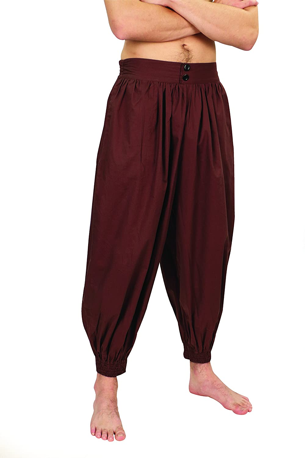 Deluxe Adult Costumes - Brown Madagascar harem pirate pants by Museum Replicas