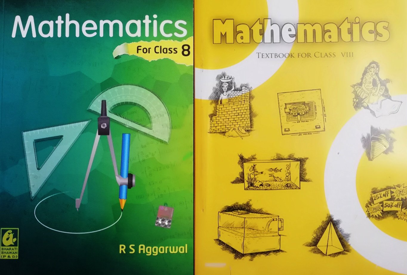 Amazon in: Buy Maths class 8th Textbook Ncert & RS Aggarwal