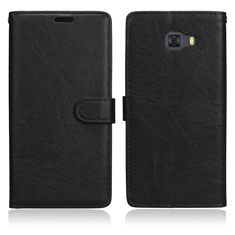 C9 Pro Case Galaxy C9 Pro Case Lwaisy Black Kickstand Feature Premium PU Leather Wallet Flip Phone Protective Case Cover with Card Slots for Samsung Galaxy C9 Pro