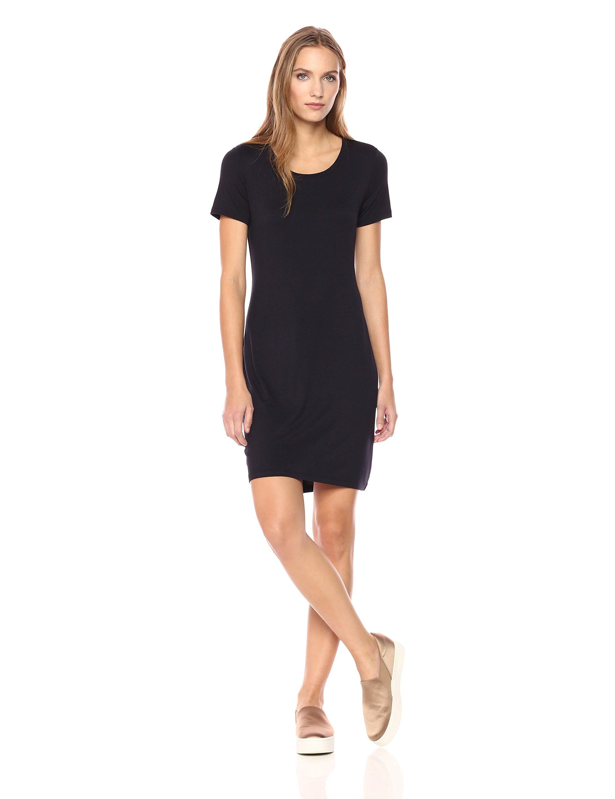 Daily Ritual Women's Jersey Short-Sleeve Scoop Neck T-Shirt Dress, XS, Navy