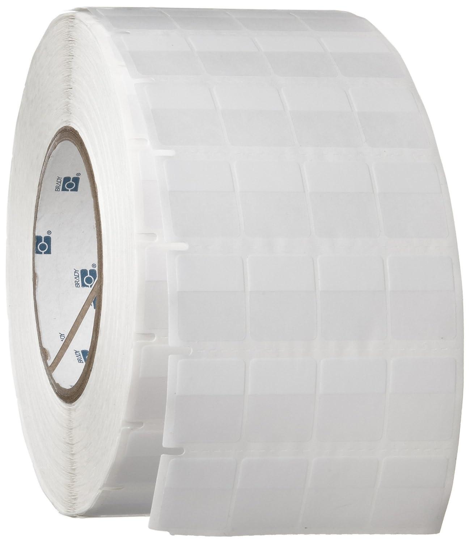 B-427 Self-Laminating Vinyl Brady THT-56-427-10 0.75 Width x 0.937 Height 10000 per Roll Matte Finish White//Translucent Thermal Transfer Printable Label